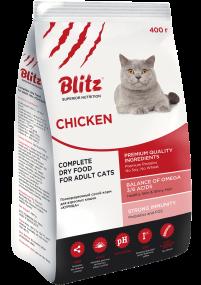 "Blitz: сухой корм для взрослых кошек ""Курица"""
