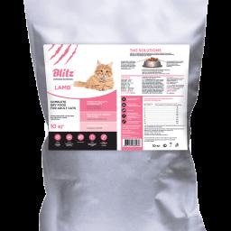Blitz: сухой корм для взрослых кошек «Ягнёнок»