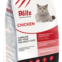 Сухой корм для взрослых кошек «Курица»