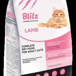 Сухой корм для взрослых кошек «Ягнёнок»