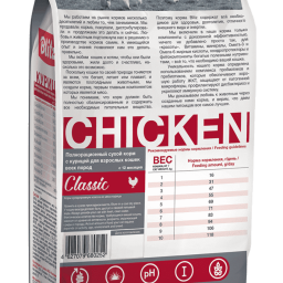 Blitz Classic «Курица» сухой корм для взрослых кошек