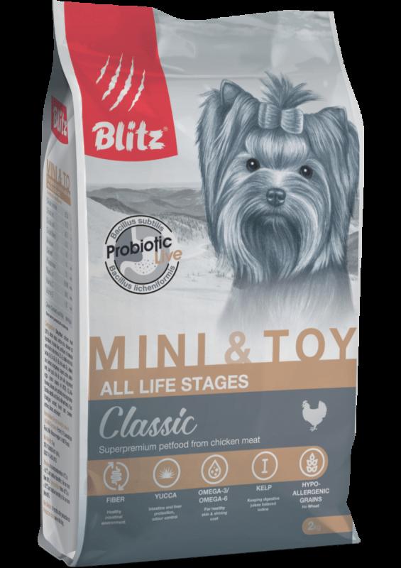 Blitz: сухой корм для собак мелких и миниатюрных пород всех возрастов