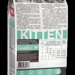Blitz Sensitive с индейкой сухой корм для котят, беременных и кормящих кошек