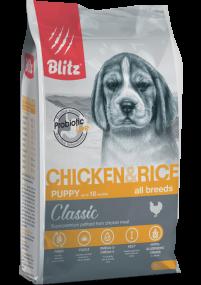 Blitz: сухой корм для щенков всех пород с курицей