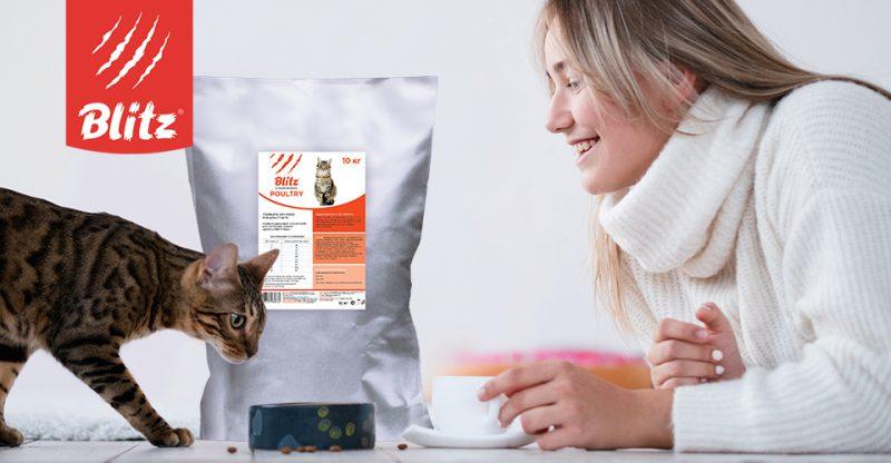 Вышел новый корм для кошек — Blitz Adult Cat Poultry