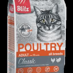 Blitz Classic «Домашняя птица» сухой корм для взрослых кошек