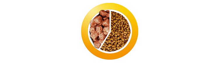 Смешивать сухой корм и консервы