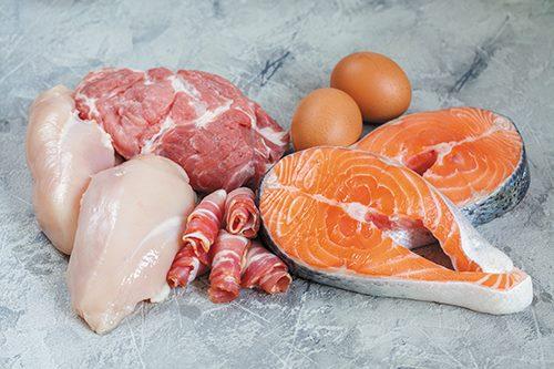 Свежее мясо и рыба