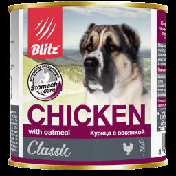 Blitz: консервированный корм для собак всех пород и возрастов с курицей и овсянкой