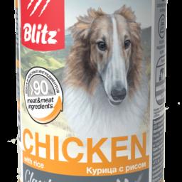 Blitz Classic «Курица с рисом» консервированный корм для собак всех пород и возрастов