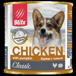 Blitz Classic «Курица с тыквой» консервированный корм для собак всех пород и возрастов