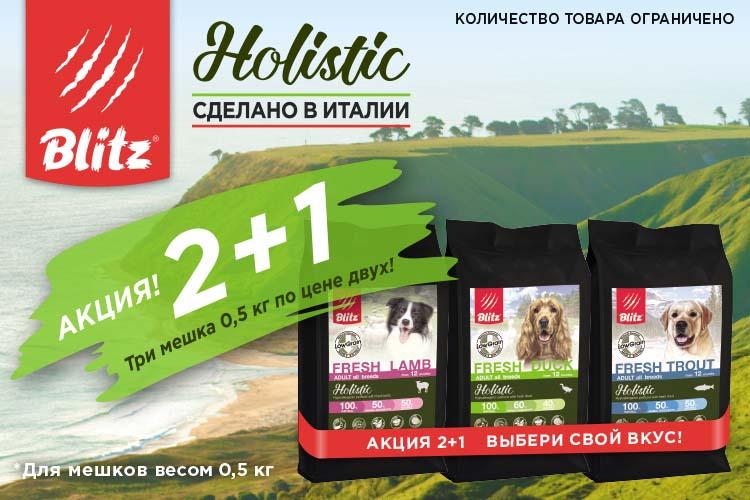 Акция на корма Blitz Holistic для собак в ноябре и декабре 2019