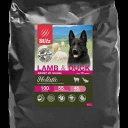 Blitz Holistic ЯГНЁНОК И УТКА — беззерновой сухой корм для взрослых собак всех пород
