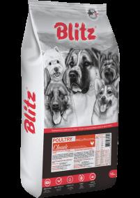 Blitz: сухой корм для взрослых собак всех пород с домашней птицей