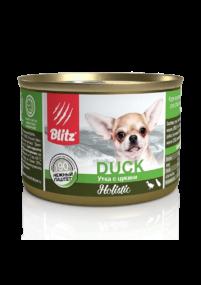 Blitz Sensitive «Утка с цукини» консервированный корм для собак мелких пород всех возрастов