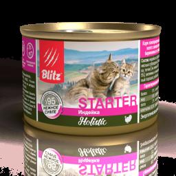 Blitz Holistic «Индейка» консервированный корм-стартер для котят, беременных и кормящих кошек